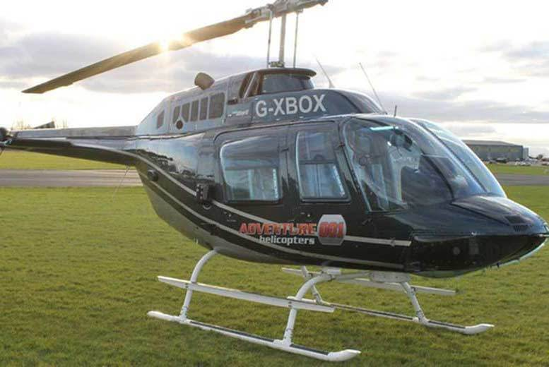 Image of £32 for a blue skies helicopter tour for one person with a glass of bubbly, or £59 for two with Adventure 001 - choose from 38 locations and save up to 58%