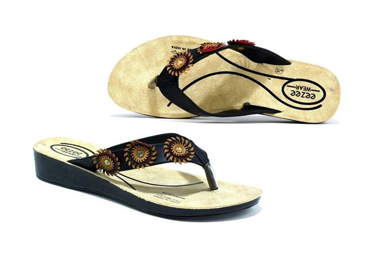 ?7.99 (from Shoe Fest) for a pair of flower embellished flip flops!