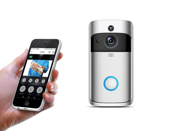 Image of £27.99 instead of £89.99 for a smart home wireless security doorbell HD camera from Maxwe - save 69%