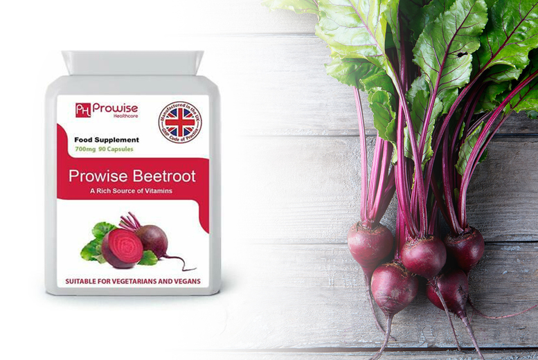 ?7.99 (from Prowise Healthcare) for a 45 day supply* of 700mg beetroot capsules