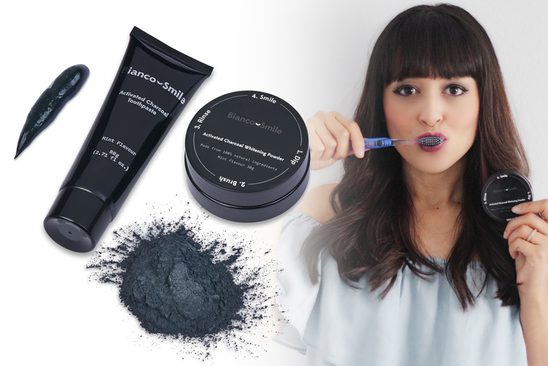 ?7.99 (from Bianco Smile) for a pack of two 80g activated charcoal toothpastes or ?12.99 for an activated charcoal toothpaste and powder bundle