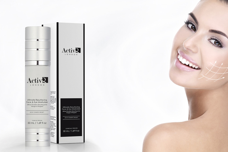 ?8.99 instead of ?149 (from Activ8) for a 50ml bottle of Ultimate Resurfacing eye and face moisturiser, or ?16.99 for two bottles - save 94%