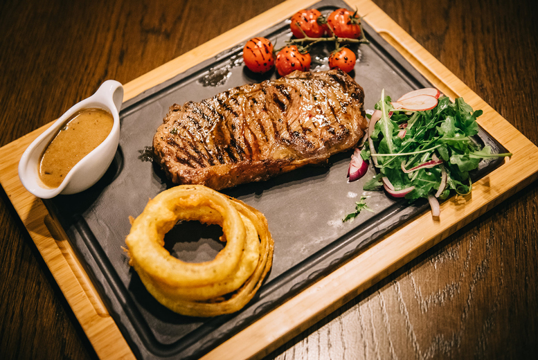 Image of £22 instead of £43.90 for a steak dining for two people with 8oz rump steak, side and sauce each at Mumbai Milano, Belfast - save 50%