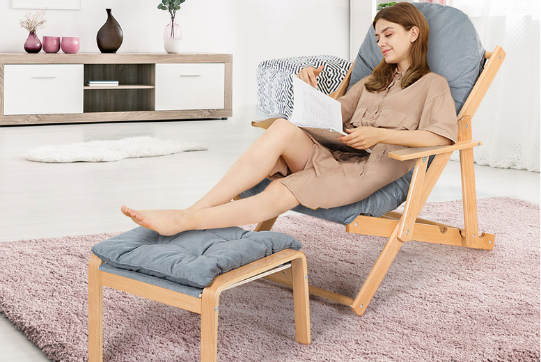 Image of £129 i(from Costway) for a recliner armchair with a footstool