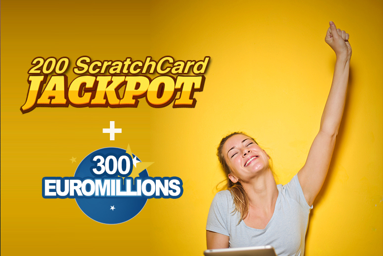 Image of £9 instead of £50 for 300 EuroMillions syndicate lines and 200 online syndicate scratch cards from Cheeky Lottos - save 82%