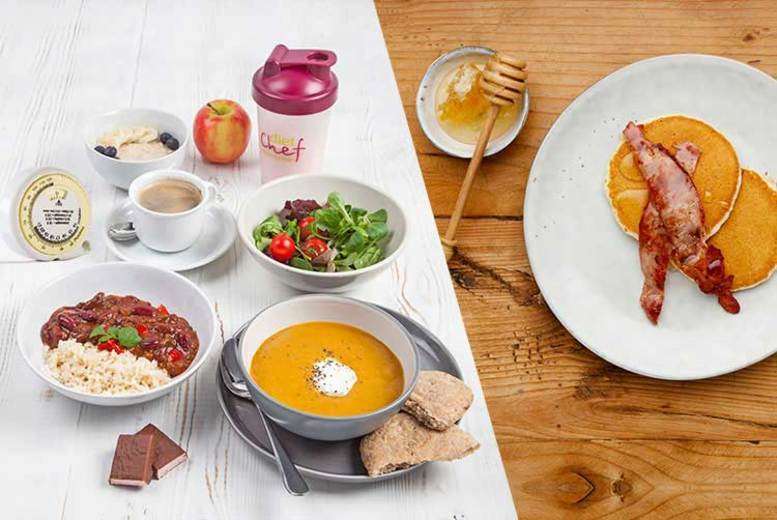 Image of From £69 instead of from £143.01 for a Diet Chef plan hamper including breakfast, lunch, dinner and a snack each day with no subscription - choose between 20 and 28 days while saving up to 52%