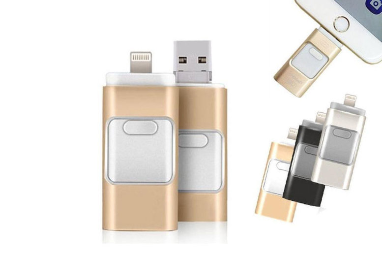 Image of From £9 instead of £29.99 (from MBLogic) for a 3-in-1 USB flash drive - choose from three sizes! - save 70%
