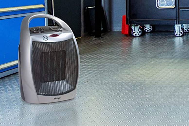 Image of £28 (from Spire Tech) for a portable ceramic electric heater with two heat settings and a cool fan setting