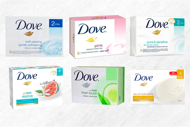 ?7.99 (from Shoppaholic) for a pack of eight Dove soap beauty bars ? choose from six tempting scents