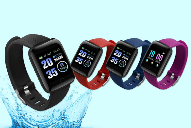Image of £13.99 instead of £69.99 (from My Brand Logic) for a 116 Plus touchscreen smart watch - save 80%