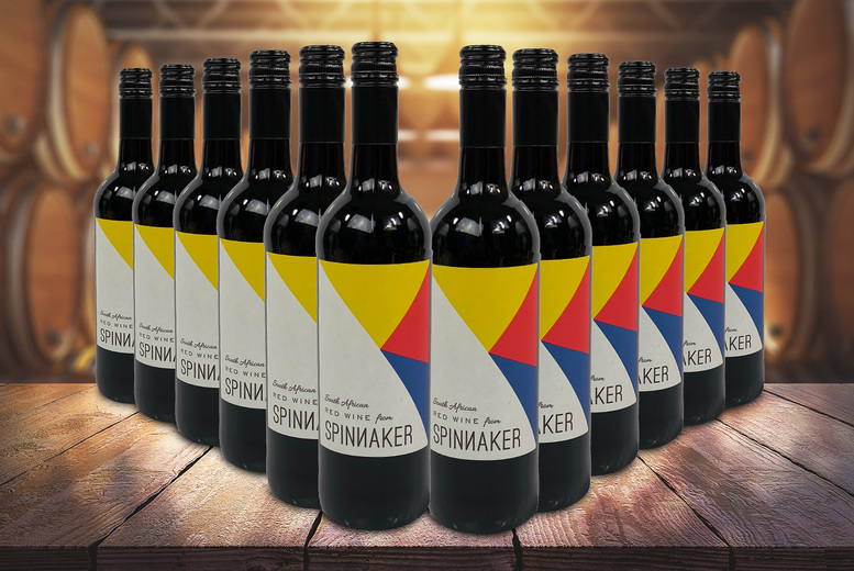 Image of £59 for a 12-bottle case of Spinnaker red wine from eliot's - sip on a smooth South African red
