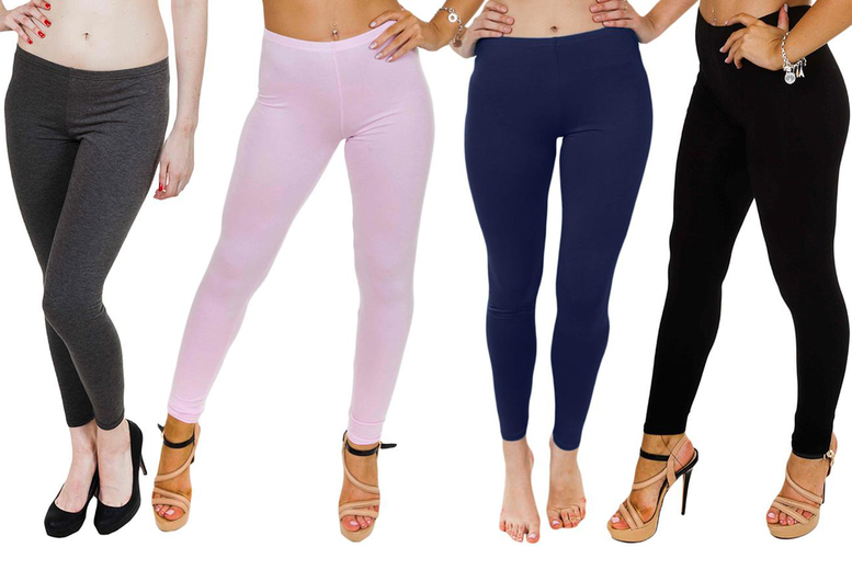 Image of £3.99 (from Love My Fashions) for a pair of ladies' plain stretch leggings