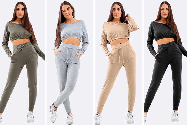 Image of £15.99 (from Love My Fashions) for a women's two-piece tracksuit set, choose from four colours