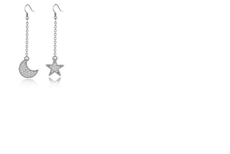 Image of £7 instead of £32 for a pair of moon and star earrings made from crystals from Swarovski from Evoked Design