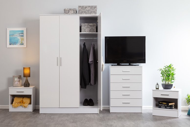 Image of From £17.99 for a Bordeaux bedside table or £179.99 for a four piece bedroom set with extra furniture options from Accessory Box