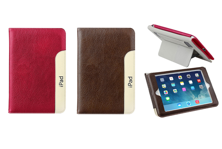Image of £6.99 instead of £39.99 (from Eshaan) for a magnetic PU leather iPad air smart stand, choose from two colours! - save 82%
