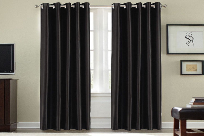 Image of From £11.99 instead of £38.99 (from Groundlevel) for a pair of thermal blackout curtains - choose from six sizes in nine gorgeous colours & save 74%