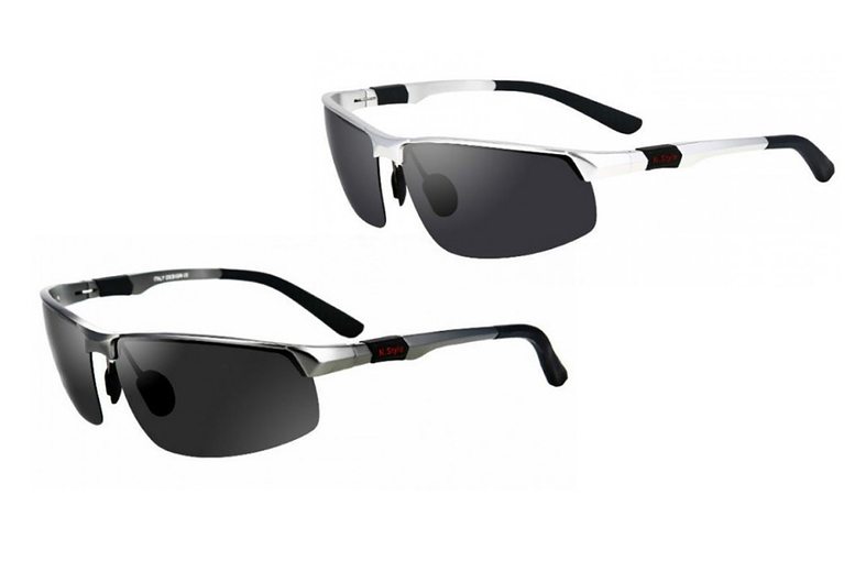 Image of £12 (from Pinkpree) for a pair of aluminium men's pilot sunglasses – choose from three designs