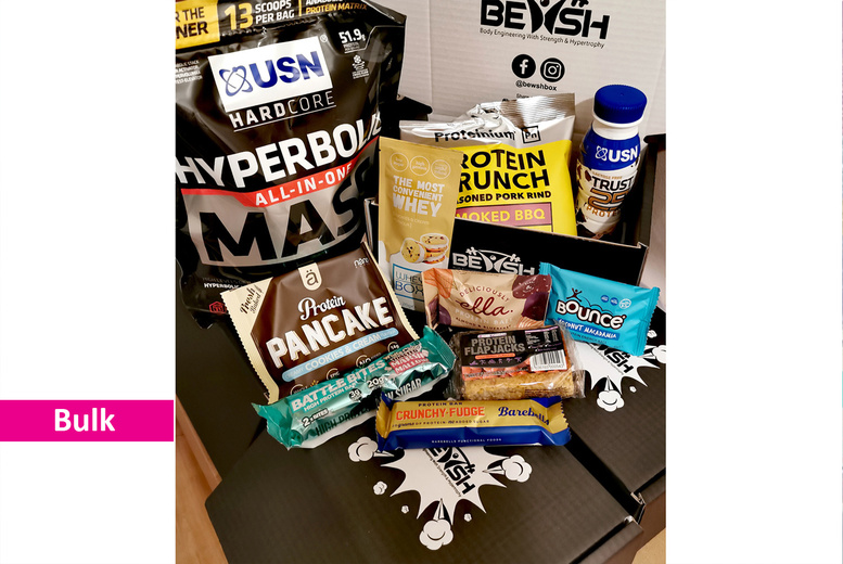 Image of £10 instead of £15.99 for a Protein Snack Box Subscription from Bewsh - save 37%