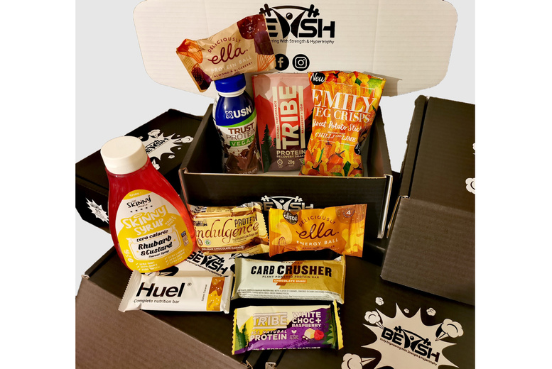 Image of £10 instead of £15.99 for a Vegan Protein Snack Box Subscription from Bewsh - save 37%