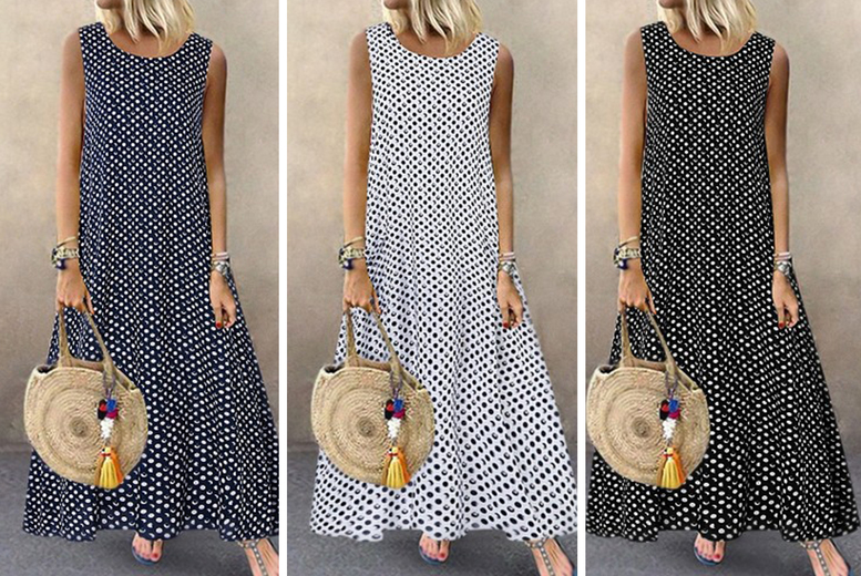 Image of £11.99 instead of £21.99 (from Wish Imports) for a women's polka dot dress - save 45%