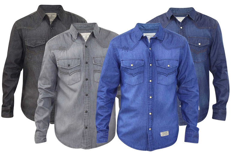 Image of £11.99 (from True Face) for a men's denim look shirt
