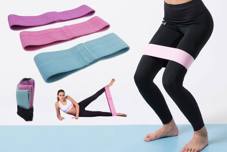 ?8.99 instead of ?38.99 (from Magic Trend) for a pack of three fabric resistance bands! - save 77%