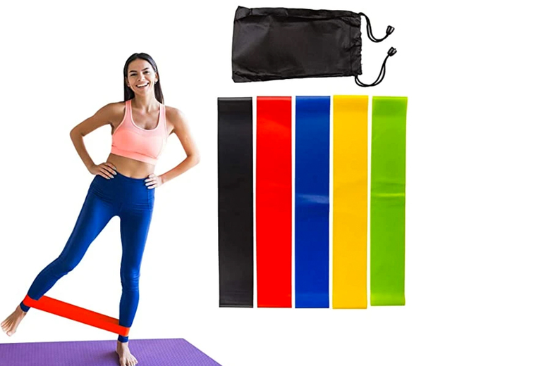 ?8.99 (from Dynergy) for one pack of five resistance bands or ?16.99 for two packs of five resistance bands!