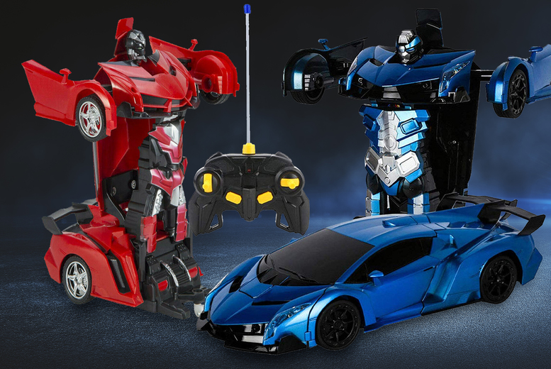 Image of £12.99 instead of £35 (from Arther Gold) for a 2-in-1 remote control car robot - save 63%