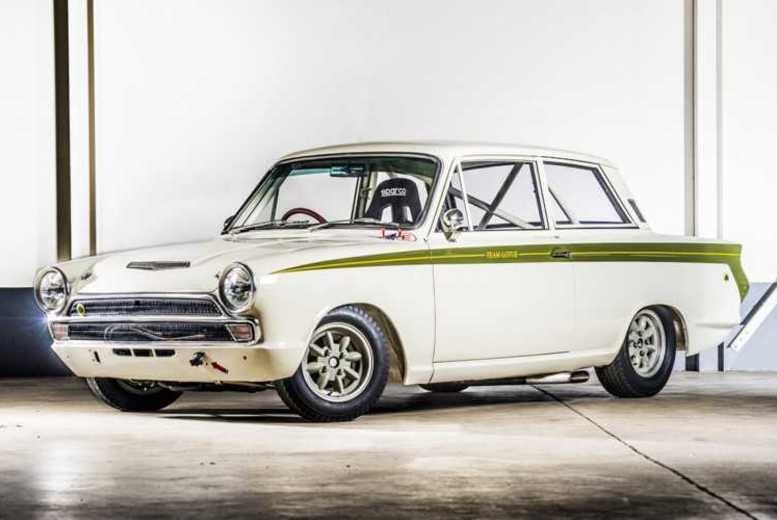Image of £19 instead of £99 for for up to three miles driving in an Lotus Cortina from Car Chase Heroes - choose from 16 UK locations and save 81%
