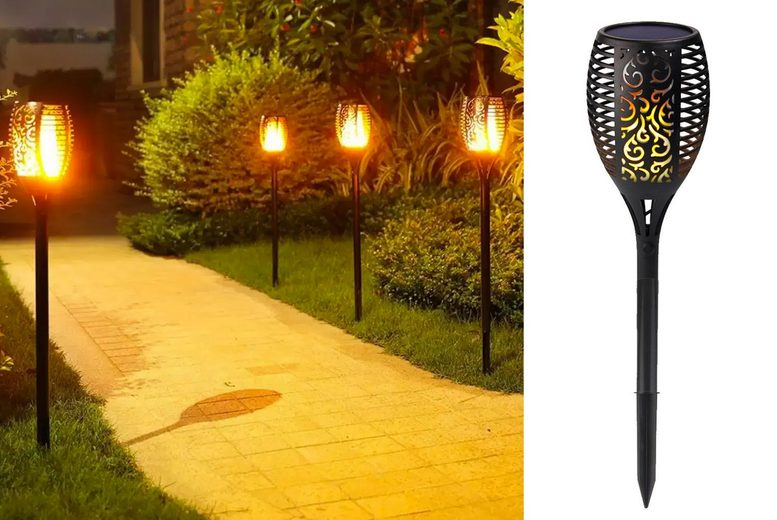 Image of From £9.99 instead of £39.99 (from MBLogic) for an outdoor solar light LED garden lamp, choose from three options and save up to 75%