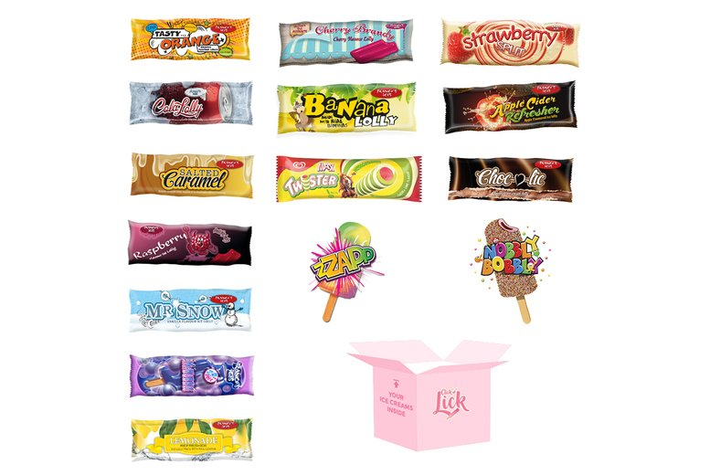 Image of £19.99 for an ice cream hamper including 15 ice lollies from Click 'N' Lick - get some sweet summer treats delivered direct to your door!