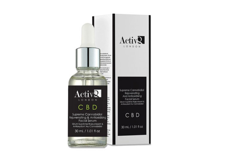 Image of £15.99 (from Activ8) for a CBD cannabidiol facial serum, £27.99 for two