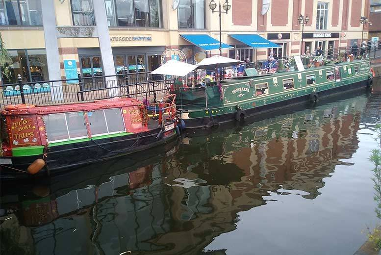 Image of £17 instead of £26 for a high tea and 30-minute boat ride for two people on Moonraker Floating Tearoom, River Witham, Lincoln – save 35%
