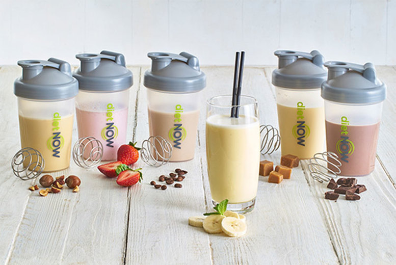 Image of £16.99 instead of £43.87 (from Diet Now) for a two-week 'meal replacement' shake bundle, £32.99 for a four-week bundle or £47.99 for a six-week bundle - shape up for summer and save up to 61%