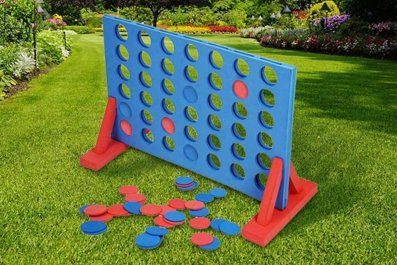 Image of £14.99 instead of £29.99 for a giant outdoor foam connect 4 game from Direct2Public Ltd - save 50%