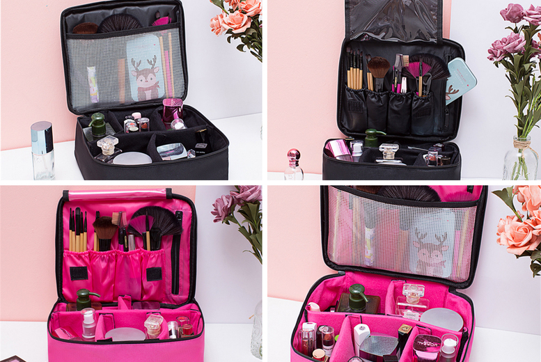?9.99 (from Hey4beauty) for a professional cosmetic portable compartment case - choose your colour!