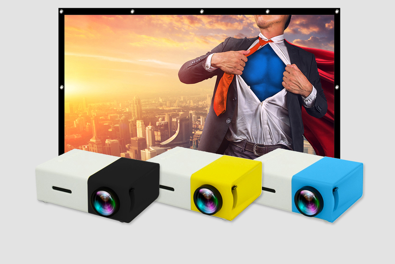 "Image of From £28.99 instead of £89.99 (from Pinkpree) for a YG-300 home projector or £42.99 for any projector with an 84"" projection screen - save up to 68%"