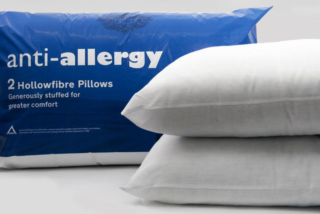 4 or 8 Luxury Deluxe Bounce Back Hollow Fibre Filled Bed Pillows Pack of 2