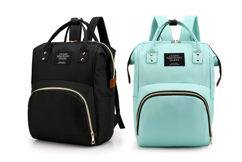 Image of £12.99 instead of £39.99 (from Wish Imports) for a fashion baby changing backpack - choose from six colours and save 68%