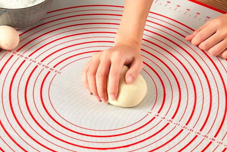 Image of From £6.99 instead of £19.99 (from Wish Imports) for a 60cm x 40cm silicone baking and measuring mat, £7.99 for a 60cm x 60cm mat and £8.99 for a 60cm x 80cm – choose from two colours and save up to 60%