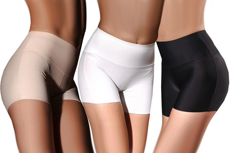 Image of £4.99 for a pair of women's anti chaffing high waist underwear shorts, £8.99 for two pairs from Boni Caro