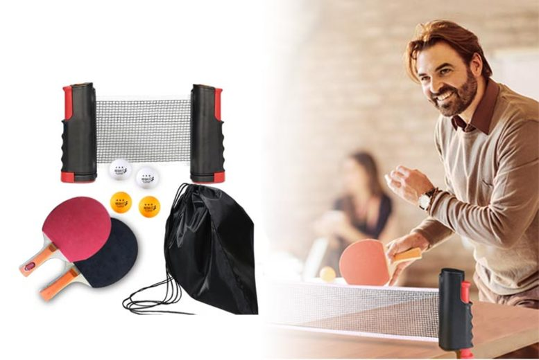 Image of £16.99 instead of £49.99 for a portable ping pong set from YelloGoods - save 66%