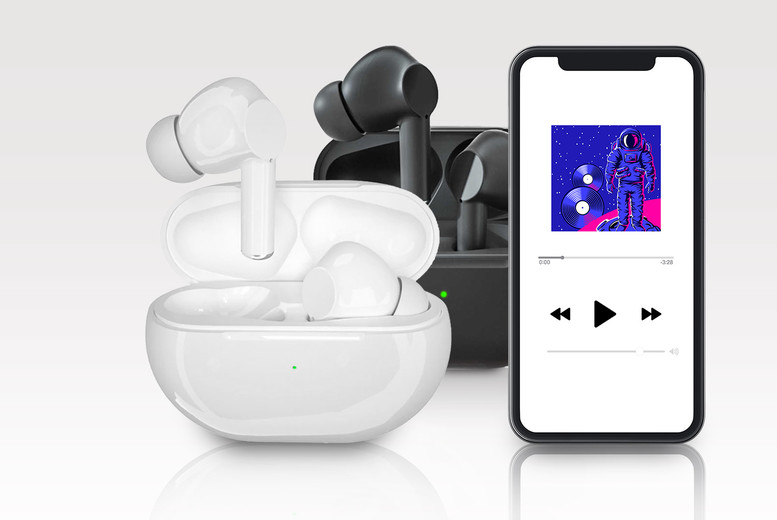 Image of £24.99 instead of £99.99 for a pair of wireless Bluetooth 5.0 earbuds from CN Direct Biz - choose your colour and save 75%