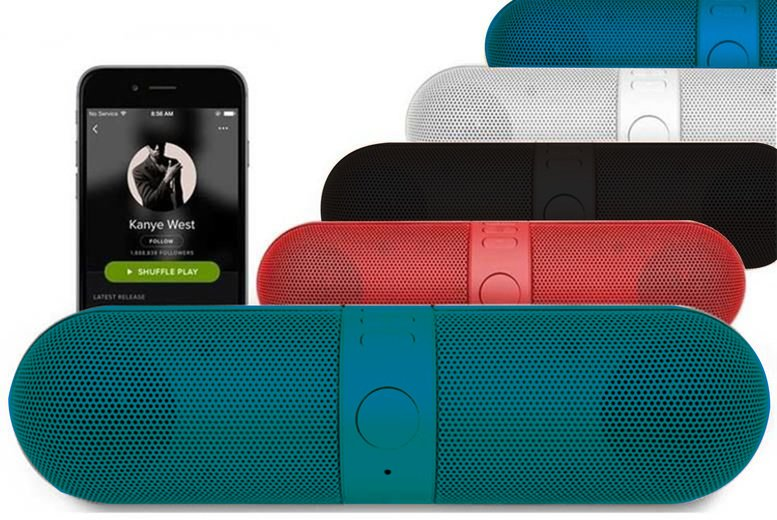 ?9.99 instead of ?49.99 (from Magic Trend) for a portable wireless Bluetooth speaker - choose from black, red, blue or white and save 80%