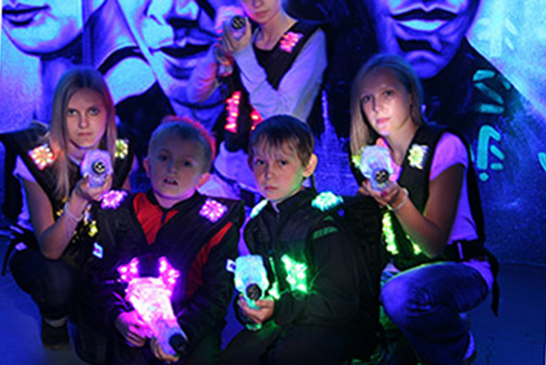 Image of £19 instead of £45 for two games of laser tag for up to 5 people at Cannon Raceway - save up to 58%