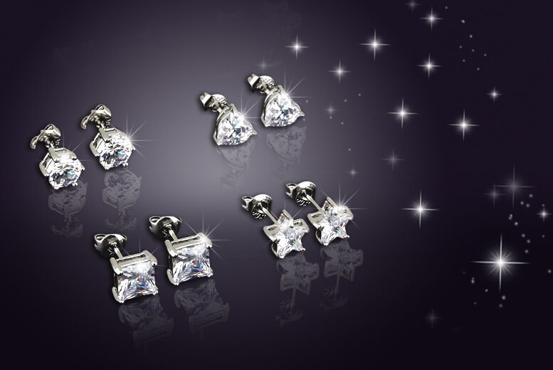 Image of £6 instead of £109 for a set of 4 crystal earrings from Evoked Design - save 94%