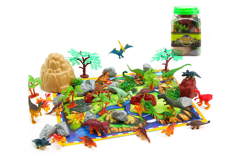 Image of £11.99 instead of £29.99 for dinosaur model toy set from Arther Gold - save 60%