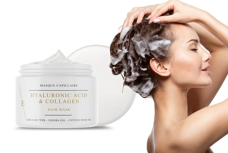 Image of £14 instead of £49 for a collagen and hyaluronic acid hair mask 500ml from Eclat Skin London - save 71%