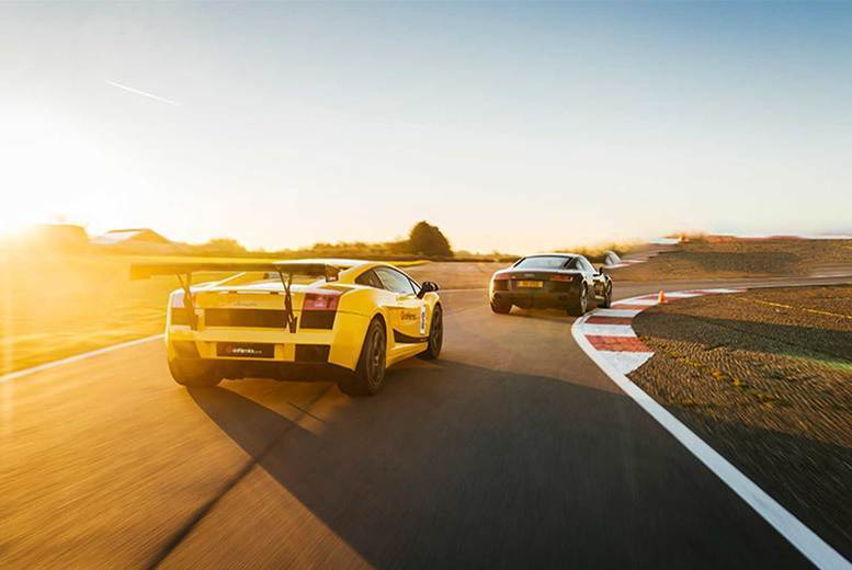Image of £29 instead of £59 for an eight-lap driving experience in one supercar at Drift Limits, Hertfordshire, or £69 for 16 laps in three supercars - save up to 51%